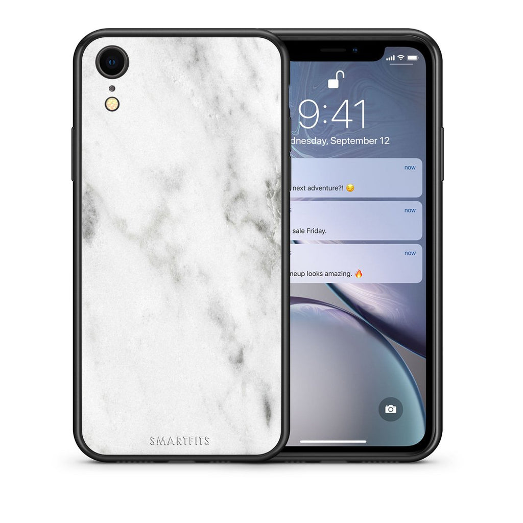 2 - iphone xr White marble case, cover, bumper