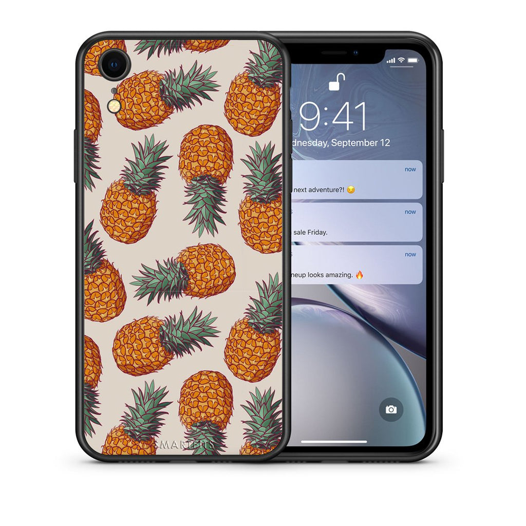 99 - iphone xr Summer Real Pineapples case, cover, bumper