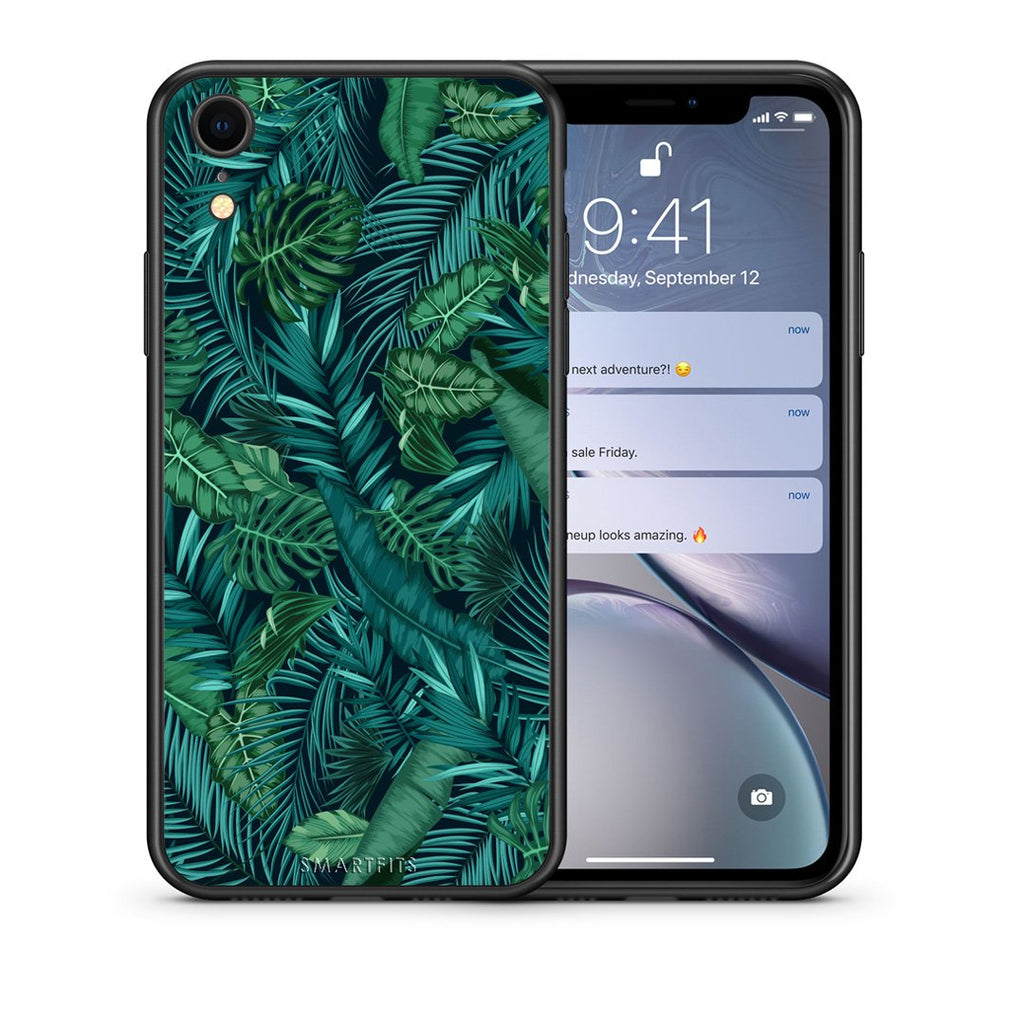 99 - iphone xr Tropic Leaves case, cover, bumper