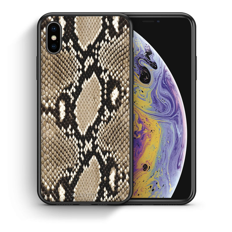 23 - iPhone X/Xs Fashion Snake Animal case, cover, bumper