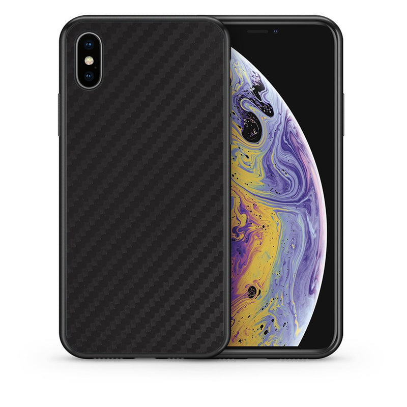 0 - iphone xs max Black Carbon case, cover, bumper