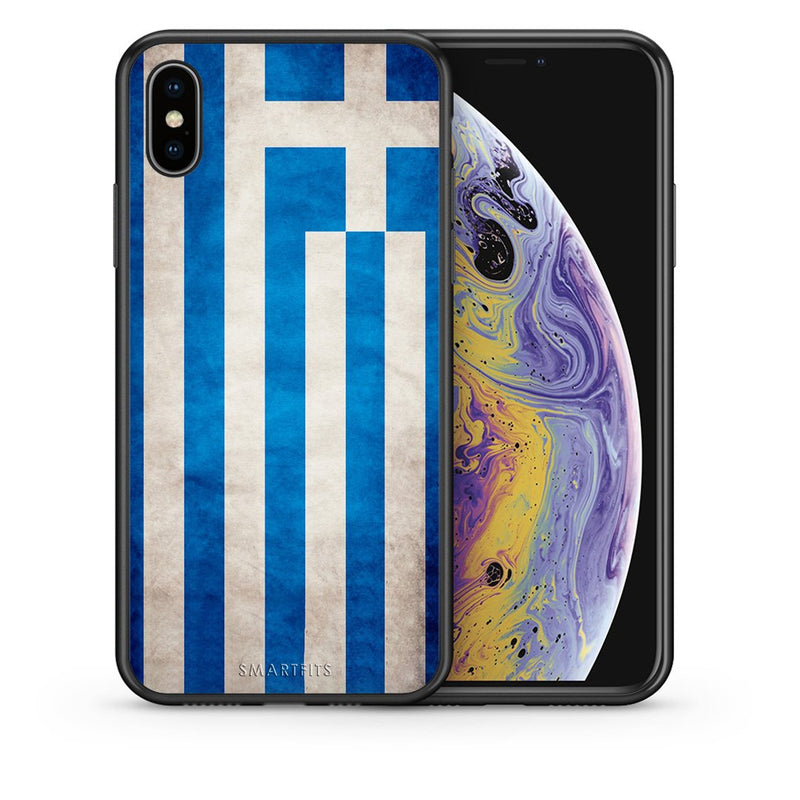 4 - iphone xs max Greece Flag case, cover, bumper