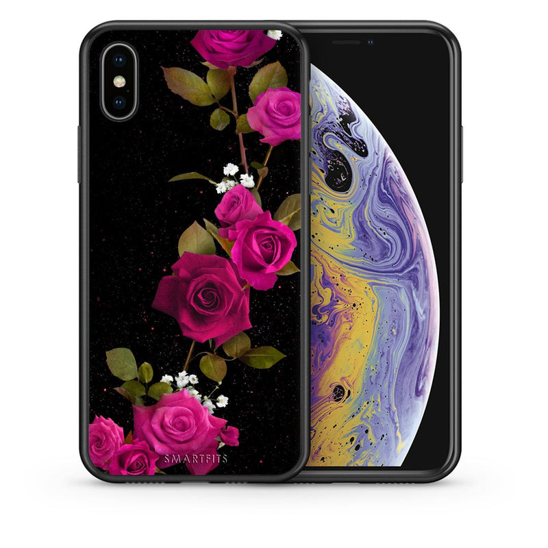 4 - iphone xs max Red Roses Flower case, cover, bumper