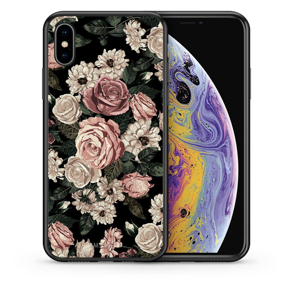 Θήκη iPhone Xs Max Wild Roses Flower από τη Smartfits με σχέδιο στο πίσω μέρος και μαύρο περίβλημα | iPhone Xs Max Wild Roses Flower case with colorful back and black bezels