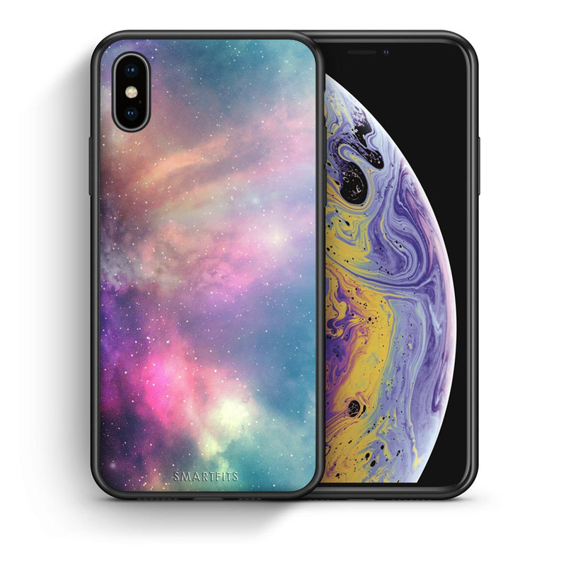 105 - iphone xs max Rainbow Galaxy case, cover, bumper