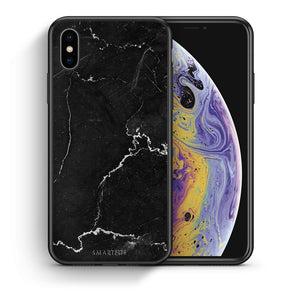 1 - iphone xs max black marble case, cover, bumper