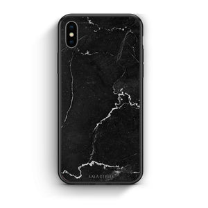 1 - iPhone X/Xs black marble case, cover, bumper