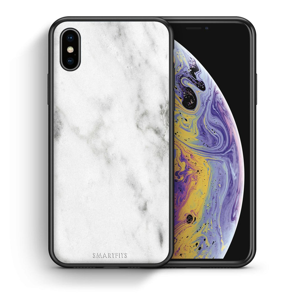 2 - iPhone X/Xs White marble case, cover, bumper