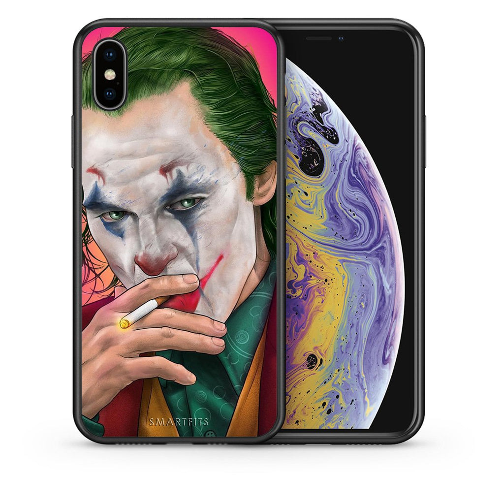 Θήκη iPhone Xs Max JokesOnU PopArt από τη Smartfits με σχέδιο στο πίσω μέρος και μαύρο περίβλημα | iPhone Xs Max JokesOnU PopArt case with colorful back and black bezels