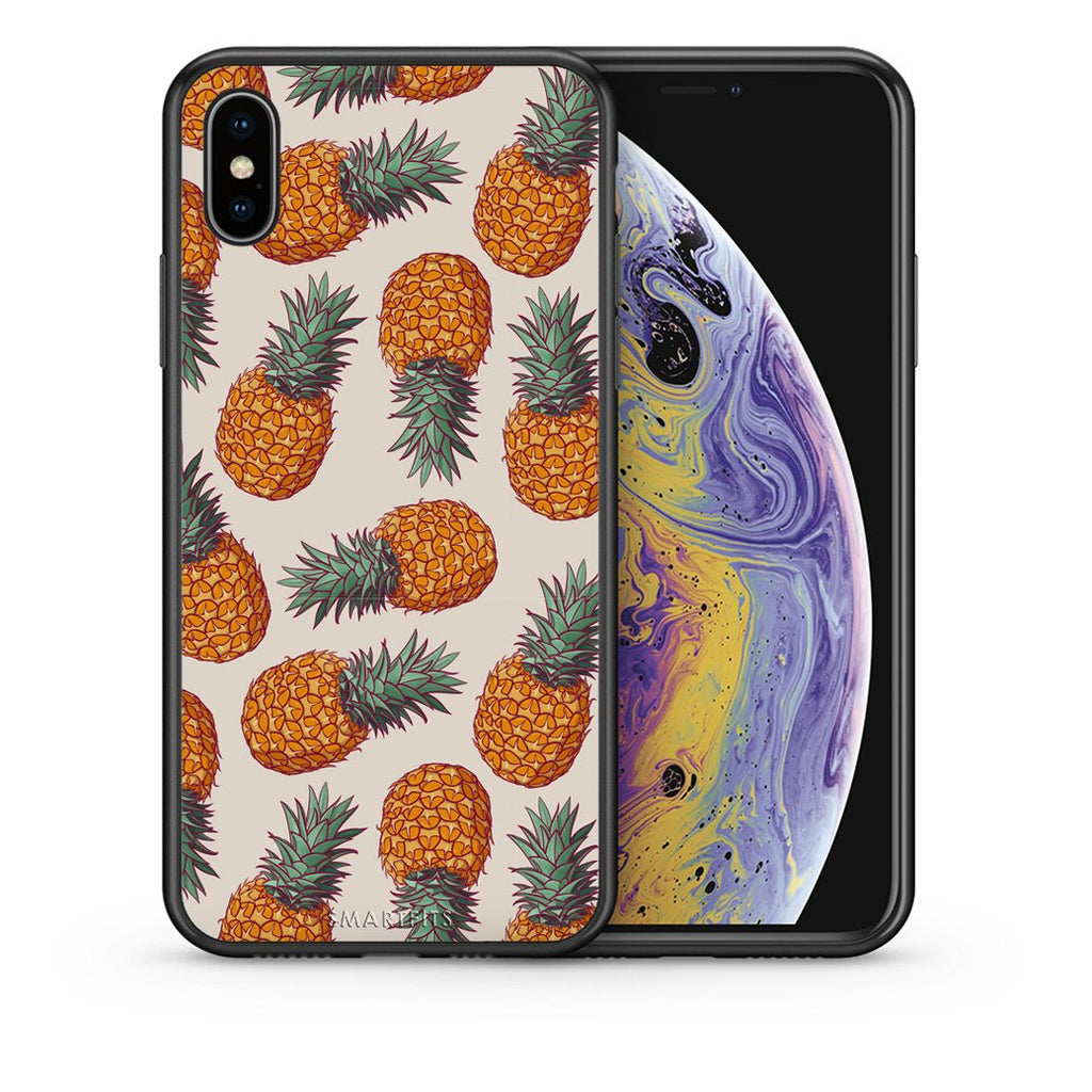 99 - iPhone X/Xs Summer Real Pineapples case, cover, bumper