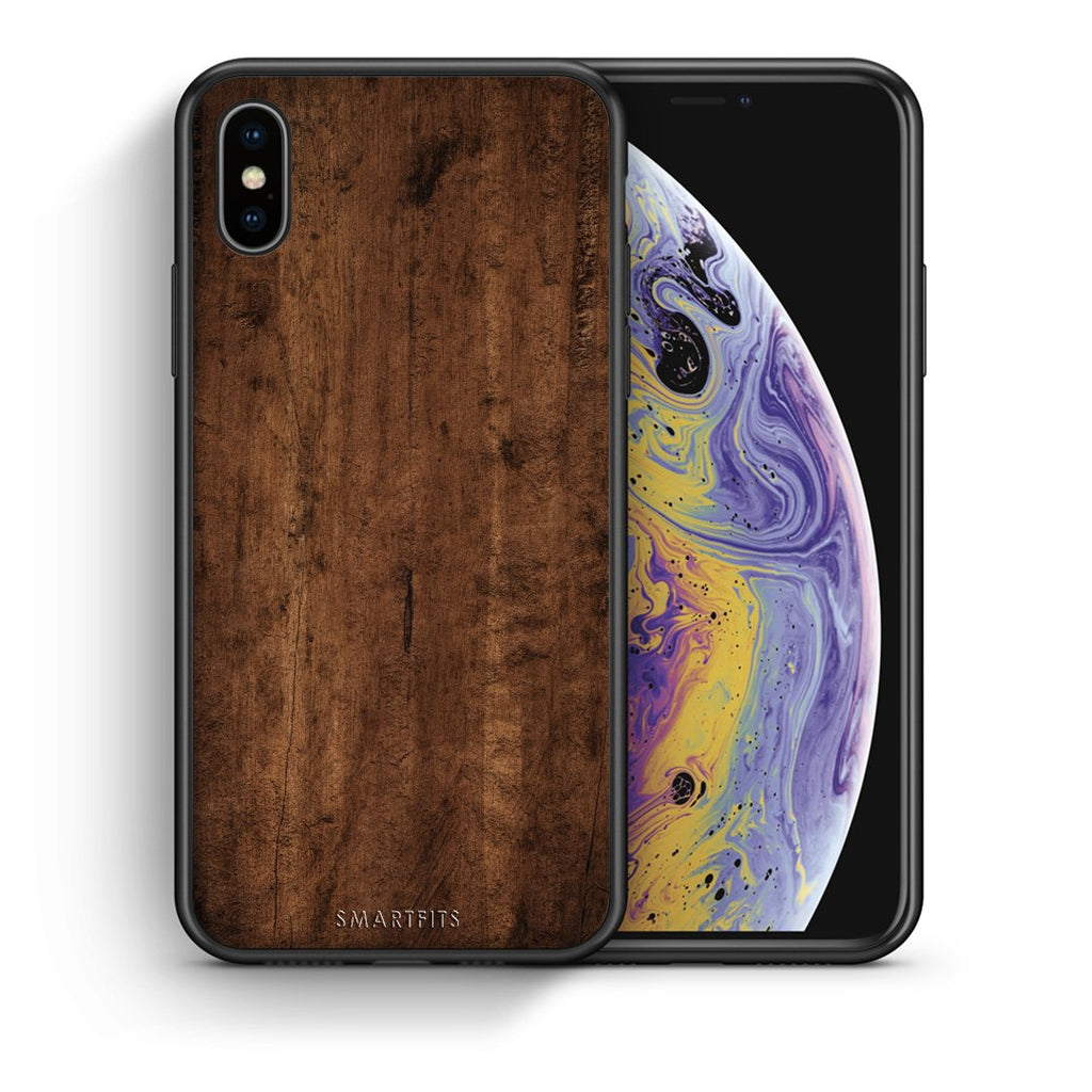 84 - iphone xs max Dark Wood case, cover, bumper