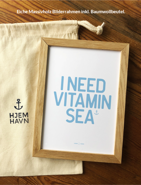 "Poster - ""I Need Vitamin Sea"" No.3"