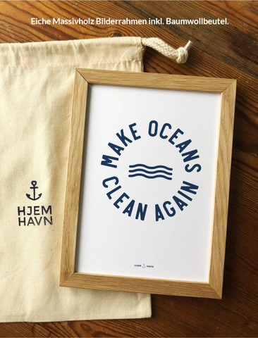 "Poster - ""Make Oceans Clean Again"""