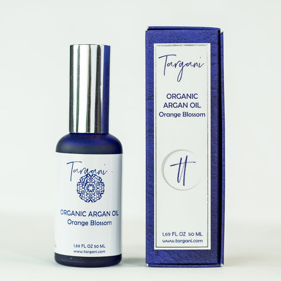 Targani Organic Argan Oil, Orange Blossom 50ml Bottle
