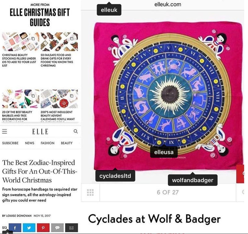 Christmas Gifts & Elle Magazine UK