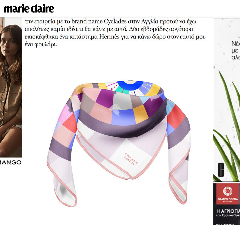Marie Claire Greece writes about Cyclades May 2018