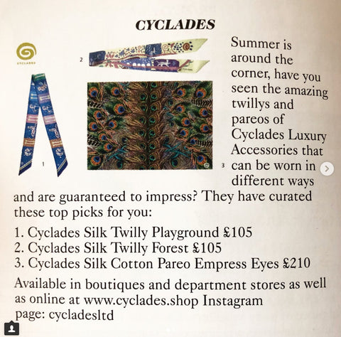 Cyclades Vogue May Issue Twilly Pareo