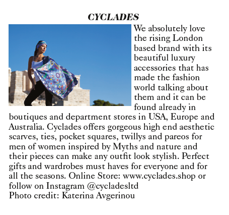 Cyclades Vogue Magazine