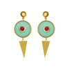 Geometric eye earrings