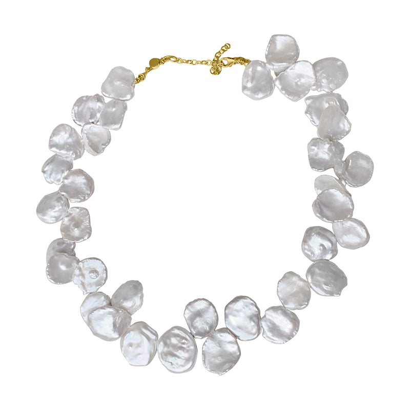 Mermaid Pearl Petal Necklace Cyclades