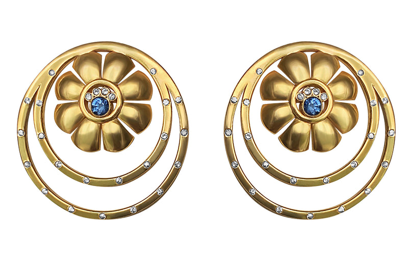 Ariadne Earrings with Sapphires