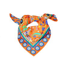 CYCLADES SILK SCARVES FRIENDSHIP ORANGE