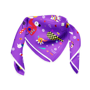 CYCLADES SILK SCARVES SPACE PURPLE