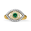 Gold Emerald Eye Ring