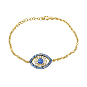 Blue Sapphires Eye Bracelet