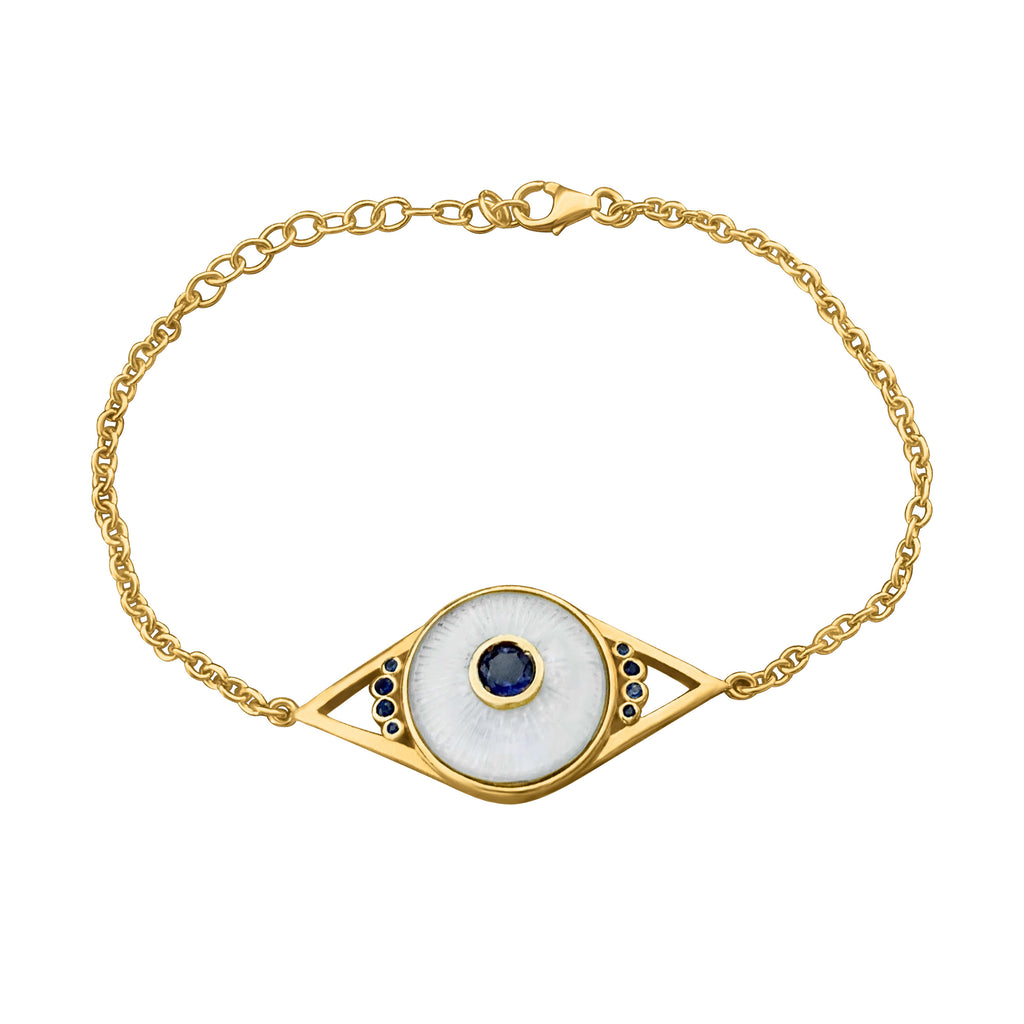 Evil Eye Quartz Gold Bracelet