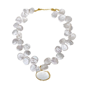 Shell Mermaid Pearl Necklace