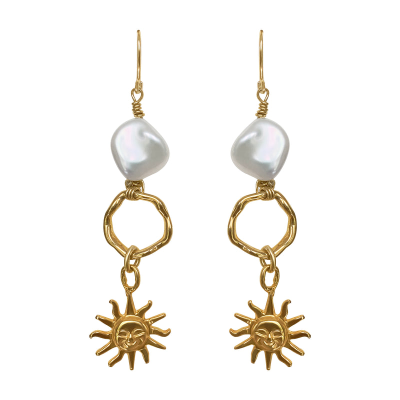 Sun Pearl Earrings by Cyclades