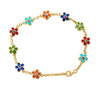 Flower Bracelet with Sapphires by Cyclades
