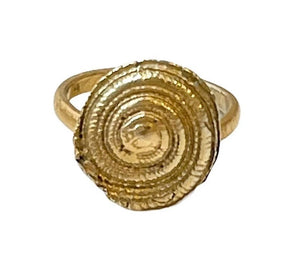 Spiral 24K Gold Plated over Silver Ring, made to order at any size, lead time 10 days
