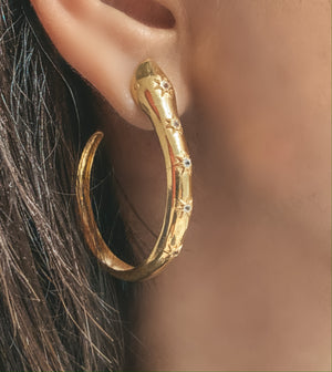 Hydra Snake Hoop Earrings