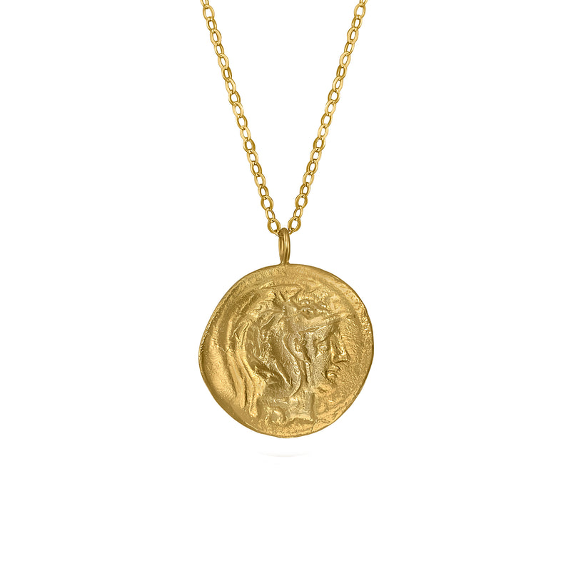 Athena Coin Necklace Pendant
