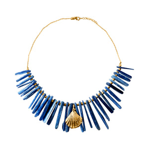 Kyanite Shell Necklace Cyclades