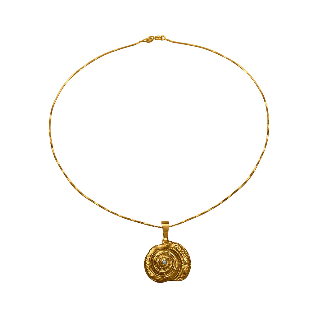 Spiral Shell Gold Plated Necklace