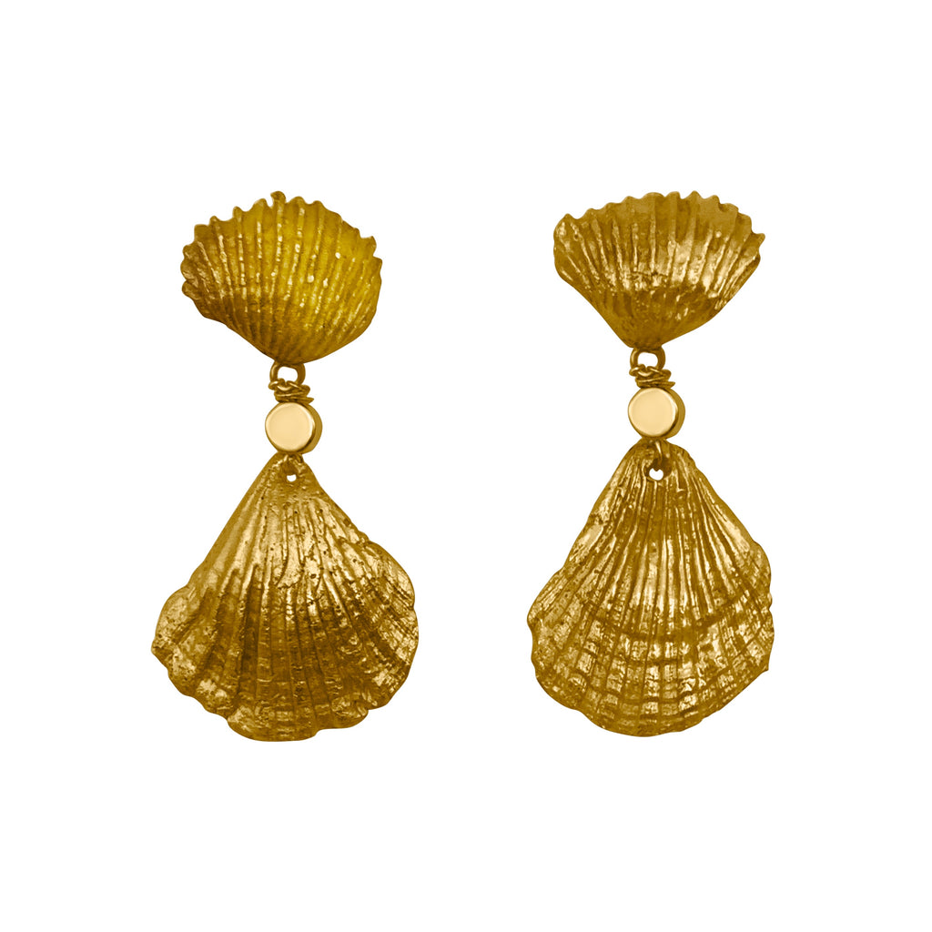 Siren Earrings 24K Gold Plated Silver