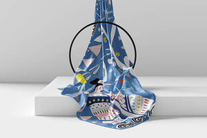 Santorini Silk Scarf Ring Cyclades