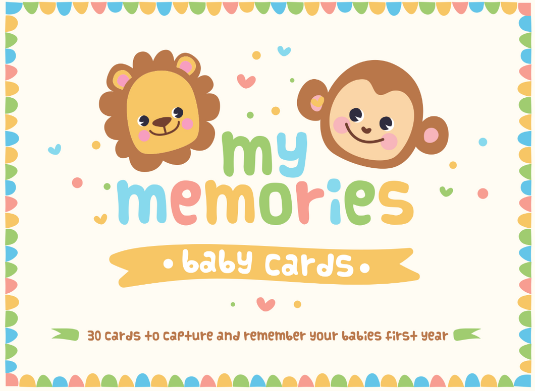 My Memories Baby Cards (0-12 months)