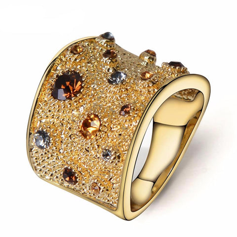 Delfina Gold Plated Ring - SWISSLO Accessories