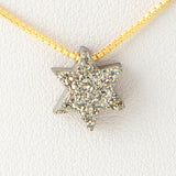 Silver Gray Star of David Druzi Opal Necklace 925 Sterling Silver Chain Pendant Charm Jewelry