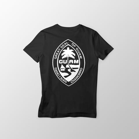 Black and White Guam Seal Men's Tee - Guam Shopping Network