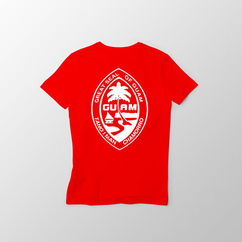 Red and White Guam Seal Men's Tee - Guam Shopping Network