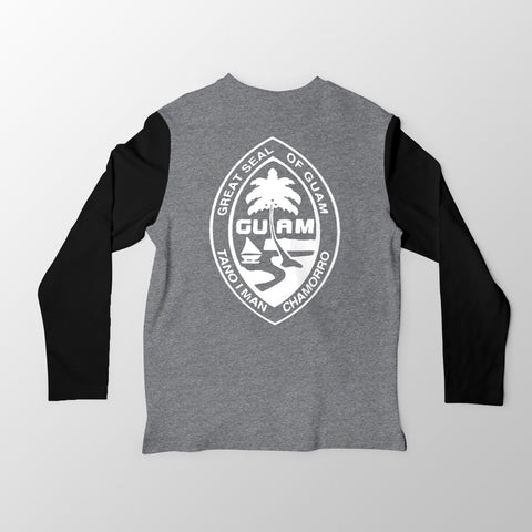Black and Grey Guam Seal Jersey Tee. - Guam Shopping Network