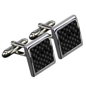 Men's Stainless Steel Black Cuff Links - Guam Shopping Network
