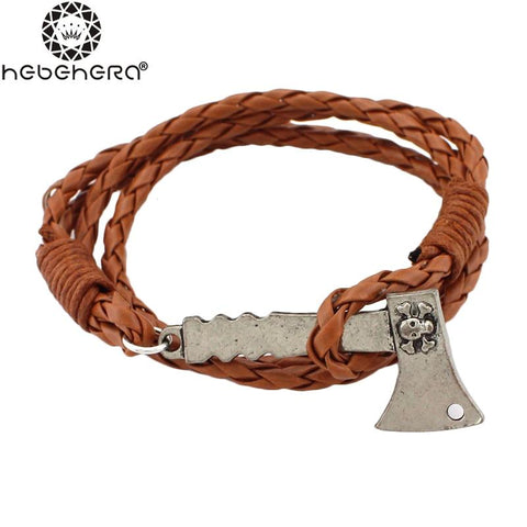 Ax Leather Braided Bracelet - Guam Shopping Network