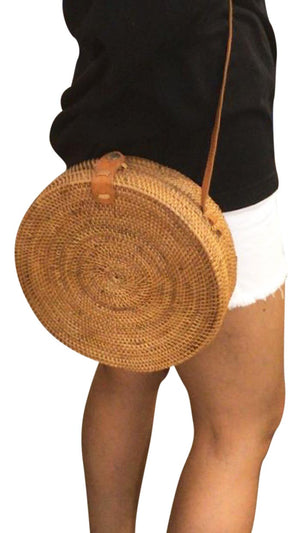 Rattan Fashioin Hand-Made Cross Over Bohemia Bag