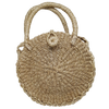 Abaca Weave Round Bag  Tote - Natural - Guam Shopping Network